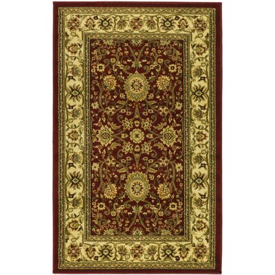 Ottis Red/Ivory Persian Area Rug Rug Size: Rectangle 4 x 6
