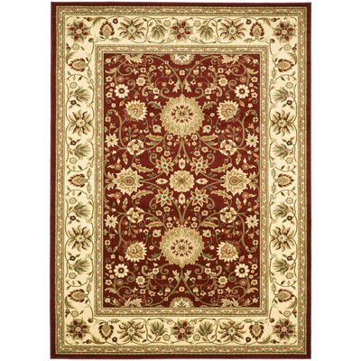 Southampton Red/Ivory Rug Rug Size: 9 x 12