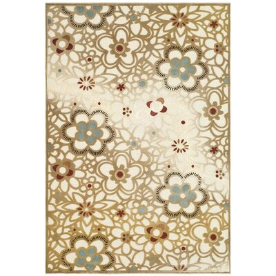 Gordon Light Beige/Multi Rug Rug Size: 53 x 76