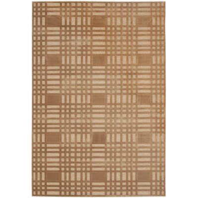 Gordon Taupe/Taupe Area Rug Rug Size: 53 x 76