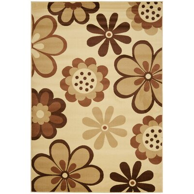 Stoney Brook Ivory / Brown Contemporary Rug Rug Size: 8 x 112