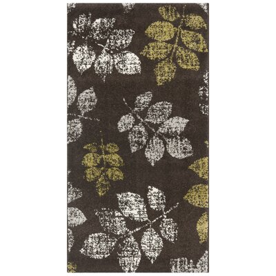 Stoney Brook Brown/Green Area Rug Rug Size: 4 x 57