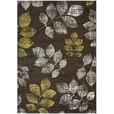 Stoney Brook Brown/Green Area Rug Rug Size: 67 x 96