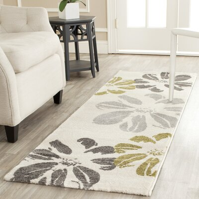 Stoney Brook Ivory Area Rug Rug Size: Runner 27 x 5