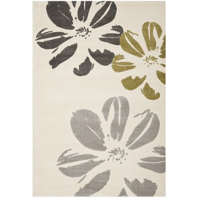 Rosario Ivory Designs Area Rug Rug Size: Rectangle 53 x 77