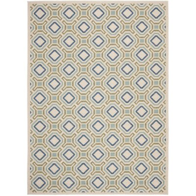 Tierney Cream & Green Inddor/Outdoor Area Rug Rug Size: 8 x 112