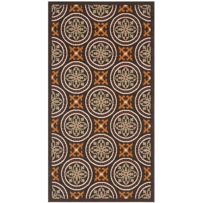 Tierney Chocolate/Terracotta Indoor/Outdoor Area Rug Rug Size: Rectangle 27 x 5