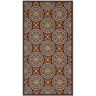 Tierney Chocolate/Terracotta Indoor/Outdoor Area Rug Rug Size: Runner 27 x 5