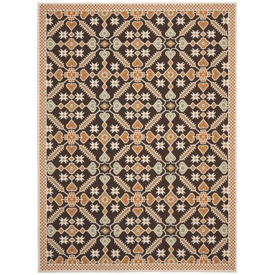 Tierney Chocolate / Terracotta Outdoor Rug Rug Size: 8' x 11'2