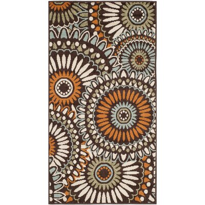 Tierney Beige/Green/Orange Indoor/Outdoor Area Rug Rug Size: Rectangle 27 x 5