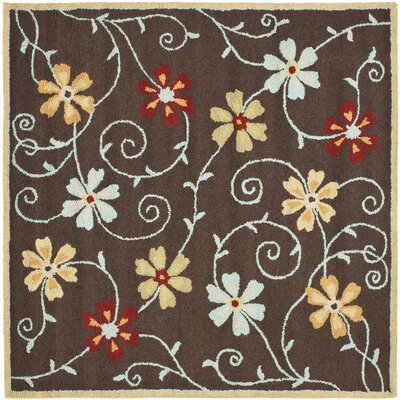 Ross Brown/Multi Area Rug Rug Size: Square 6