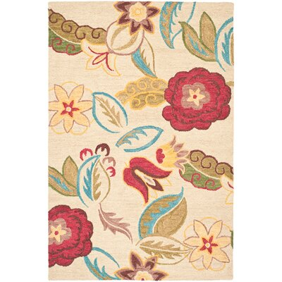 Ross Beige/Multi Floral Area Rug Rug Size: 8 x 10