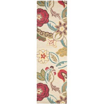 Ross Beige/Multi Floral Area Rug Rug Size: Runner 23 x 8