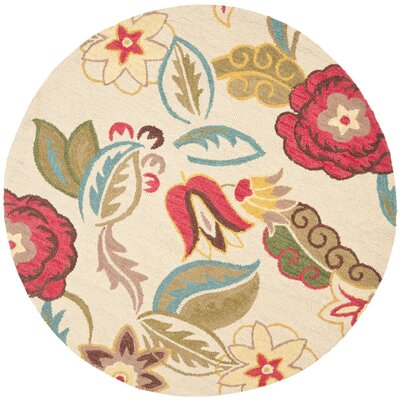 Ross Beige/Multi Floral Area Rug Rug Size: Rectangle 4 x 6