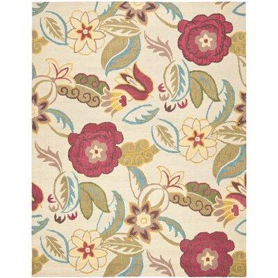 Ross Beige/Multi Floral Area Rug Rug Size: 5 x 8