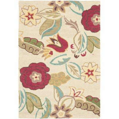 Ross Beige/Multi Floral Area Rug Rug Size: 4 x 6