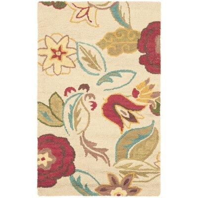 Ross Beige/Multi Floral Area Rug Rug Size: 3 x 5