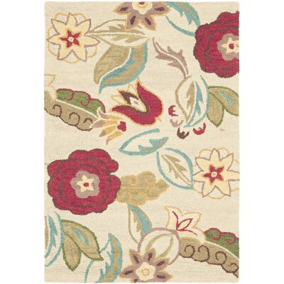 Hutsonville Beige/Multi Floral Area Rug Rug Size: 26 x 4
