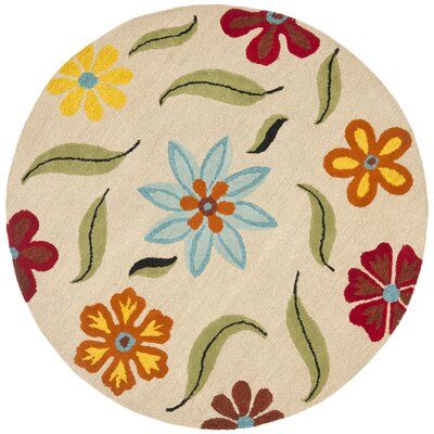 Ross Beige Area Rug Rug Size: Round 6