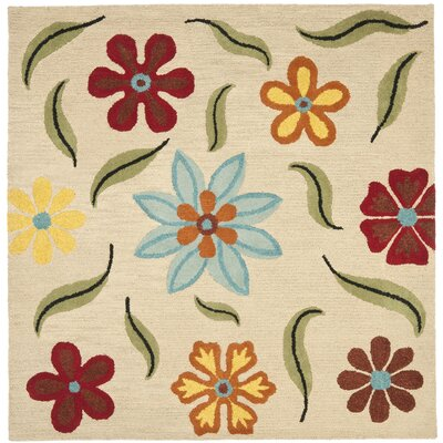 Ross Beige Area Rug Rug Size: Square 6