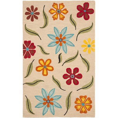 Ross Beige Area Rug Rug Size: Rectangle 3 x 5