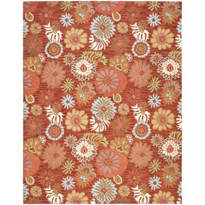 Hutsonville Red / Multi Contemporary Rug Rug Size: 5 x 8