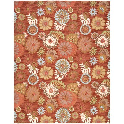 Ross Red / Multi Contemporary Rug Rug Size: 4 x 6