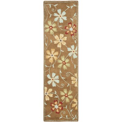 Ross Camel / Multi Contemporary Rug Rug Size: Runner 23 x 8
