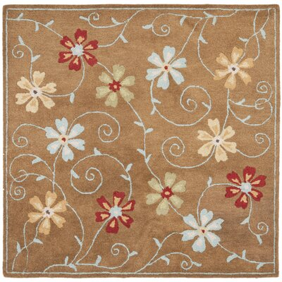 Ross Camel / Multi Contemporary Rug Rug Size: Square 6