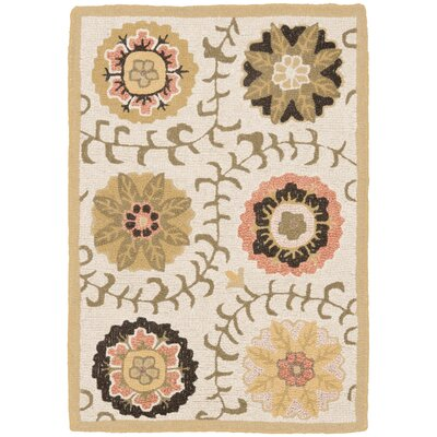 Ross Ivory Area Rug Rug Size: Rectangle 2 x 3