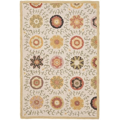 Ross Ivory Area Rug Rug Size: Rectangle 4 x 6
