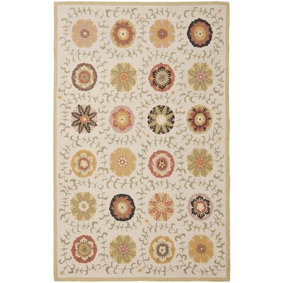 Ross Ivory Area Rug Rug Size: 5 x 8