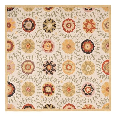 Ross Ivory Area Rug Rug Size: Square 6