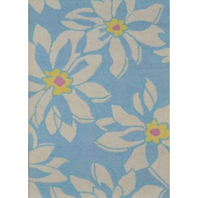 Ross Light Blue/Ivory Floral Area Rug Rug Size: Rectangle 5 x 8