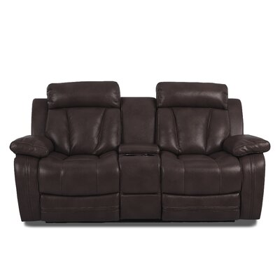 Red Barrel Studio RBRS3942 Heppner Reclining Brown Sofa