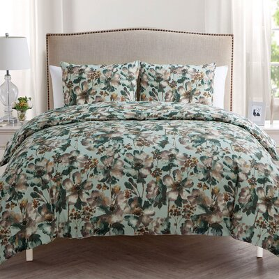 Higham 3 Piece Duvet Set Size: King