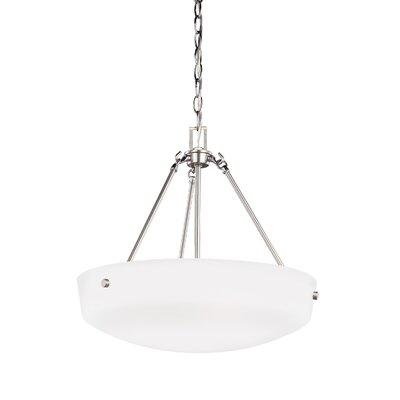Joan 3-Light Inverted Pendant Finish: Brushed Nickel