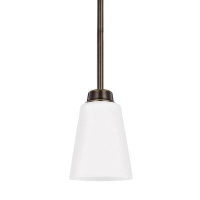 Stowe 1-Light Mini Pendant Finish: Heirloom Bronze