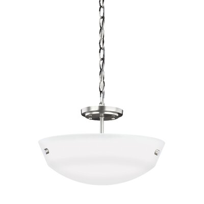 Joan 2-Light Bowl Pendant Finish: Brushed Nickel