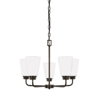 Joan 5-Light Shaded Chandelier Finish: Heirloom Bronze