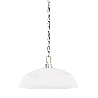 Joan Incandescent 1-Light Mini Pendant Finish: Brushed Nickel
