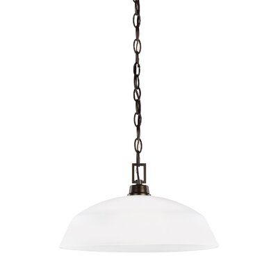 Joan Incandescent 1-Light Mini Pendant Finish: Heirloom Bronze