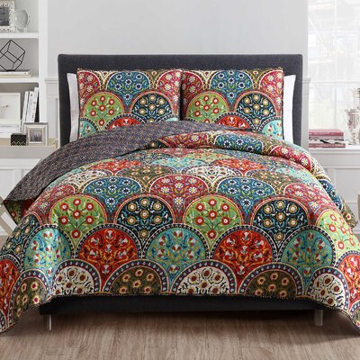 Rhynwood 3 Piece Quilt Set Size: Queen