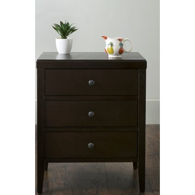 Rushville 3 Drawer Nightstand Finish: Brown
