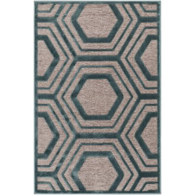 Springdale Green/Brown Area Rug Rug Size: Rectangle 4 x 57