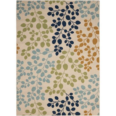 Brockenhurst Ivory Indoor/Outdoor Area Rug Rug Size: Rectangle 93 x 129