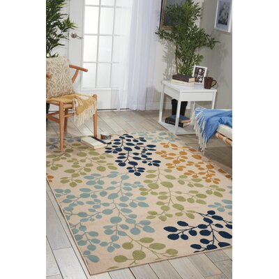 Meriline Ivory/Green/Blue Indoor/Outdoor Area Rug