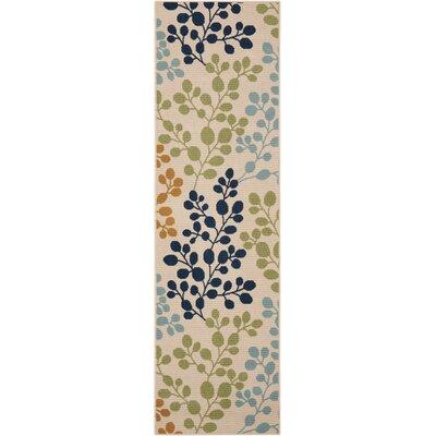 Brockenhurst Ivory Indoor/Outdoor Area Rug Rug Size: Rectangle 23 x 76
