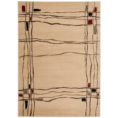 Rouseville Beige Area Rug Rug Size: 710 x 106