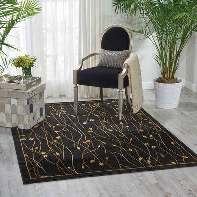 Rouseville Black Area Rug Rug Size: Rectangle 710 x 106
